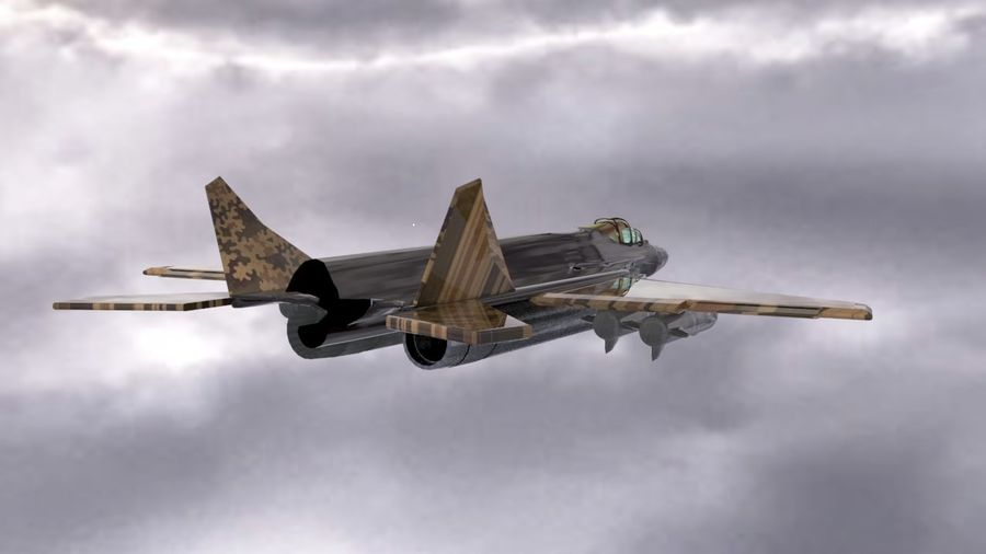 Mig-35 royalty-free 3d model - Preview no. 3