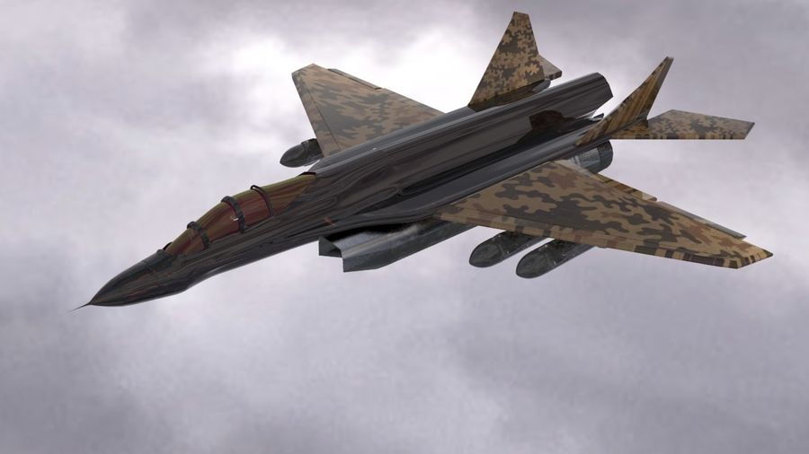 Mig-35 royalty-free 3d model - Preview no. 4