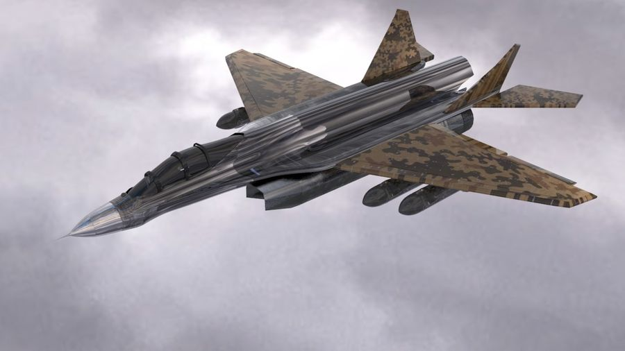 Mig-35 royalty-free 3d model - Preview no. 5
