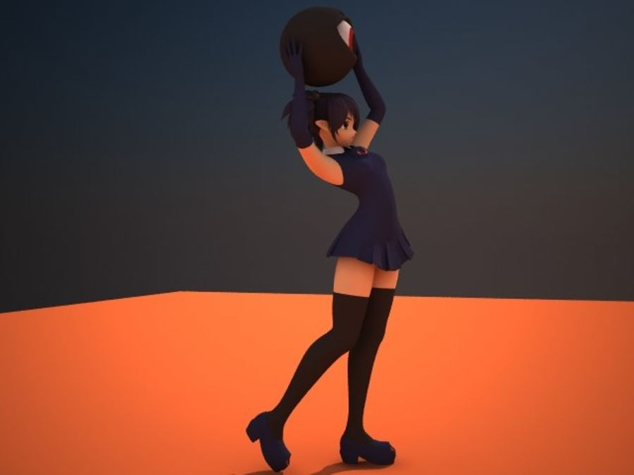 donker royalty-free 3d model - Preview no. 1