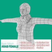 Malla de base femenina árabe modelo 3d