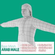 아랍 남성 기본 메쉬 3d model