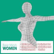 女性ベースメッシュ 3d model