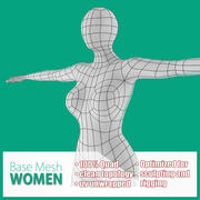 Malla Base Mujer modelo 3d