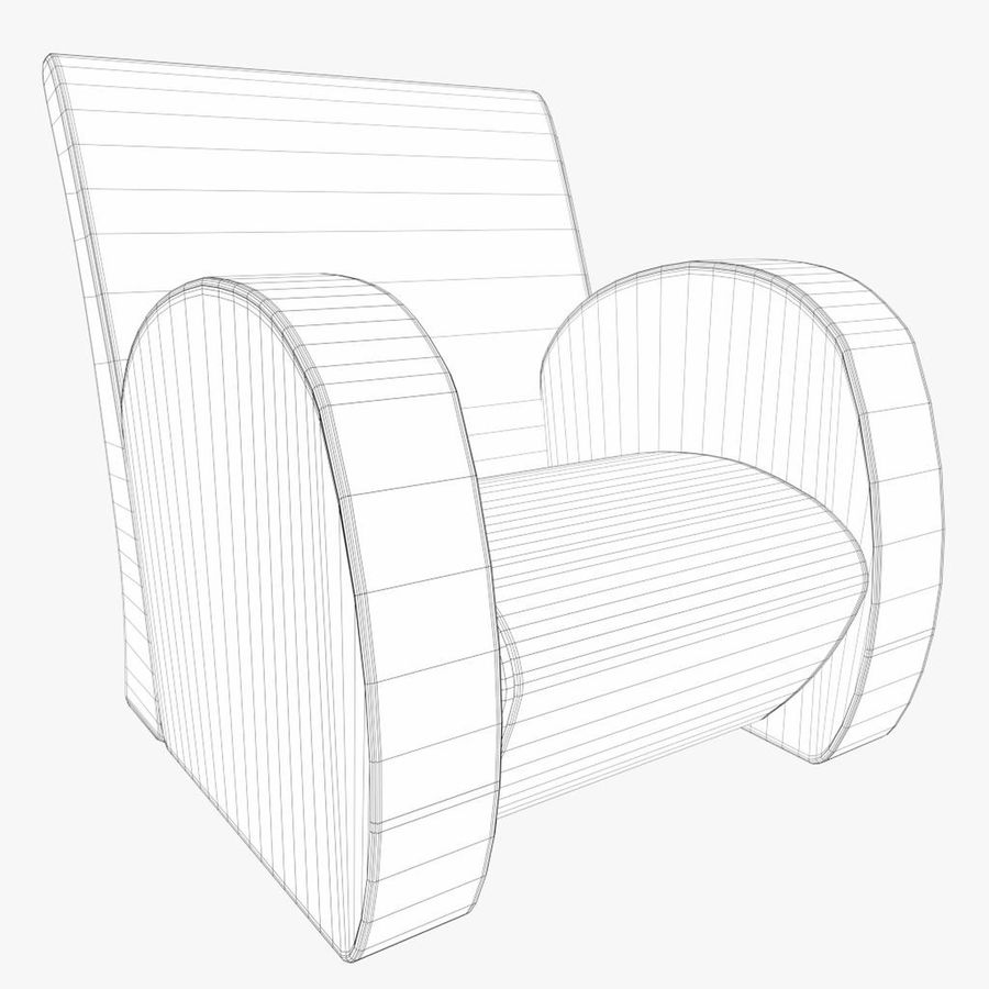 Armchair 1 royalty-free 3d model - Preview no. 7