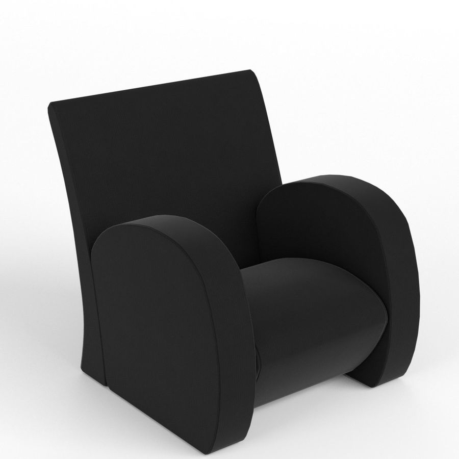 Armchair 1 royalty-free 3d model - Preview no. 1
