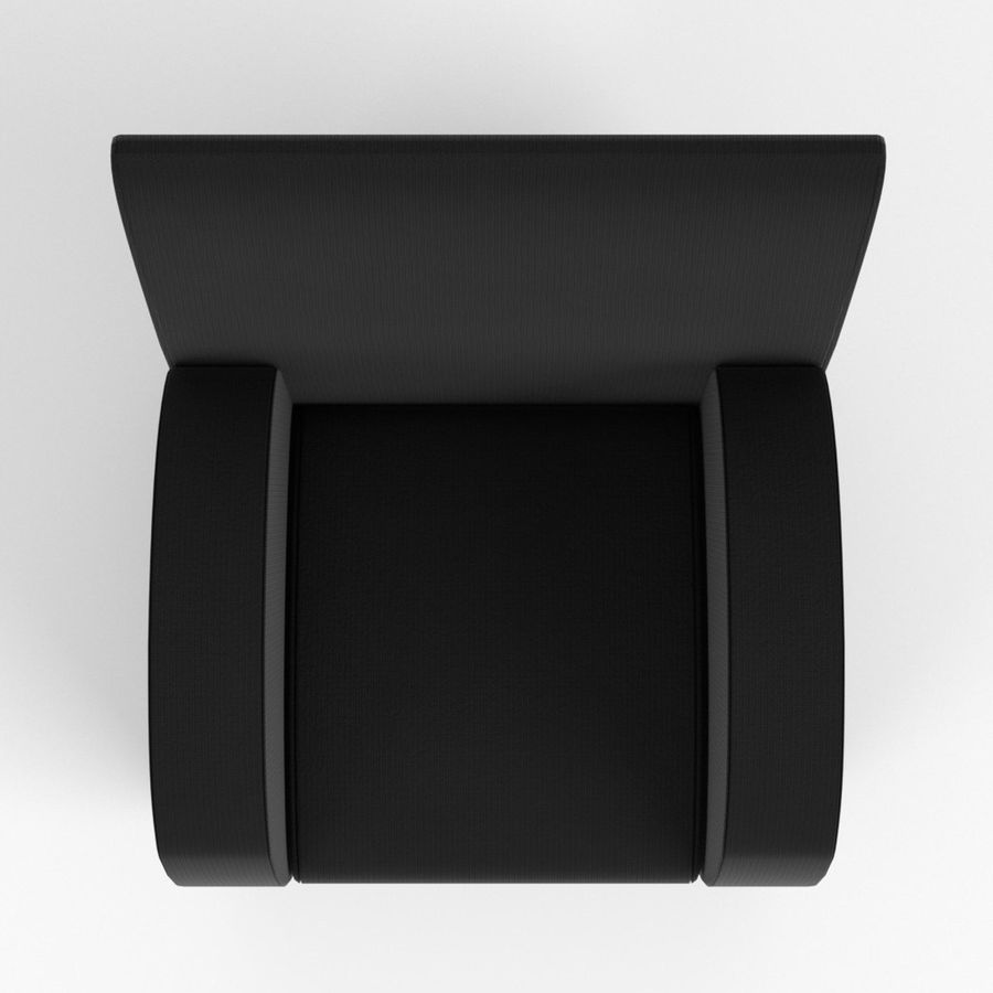 Armchair 1 royalty-free 3d model - Preview no. 6