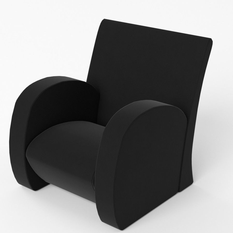 Armchair 1 royalty-free 3d model - Preview no. 5