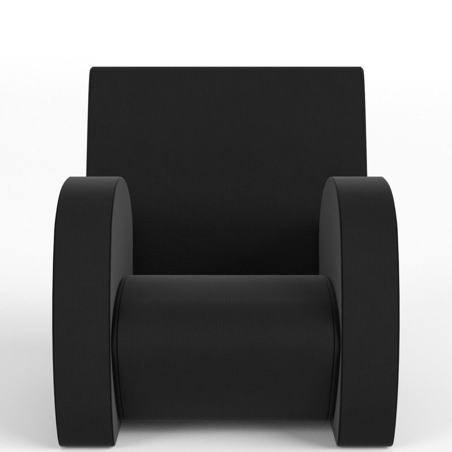 Armchair 1 royalty-free 3d model - Preview no. 3