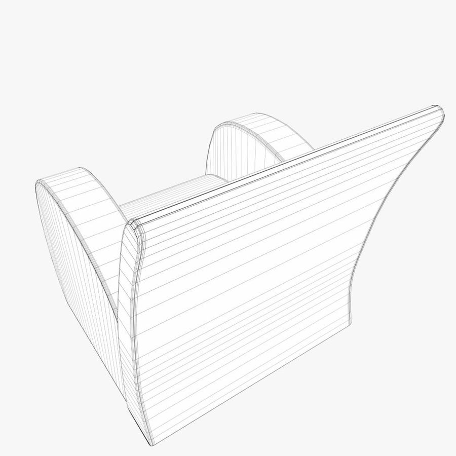 Armchair 1 royalty-free 3d model - Preview no. 8