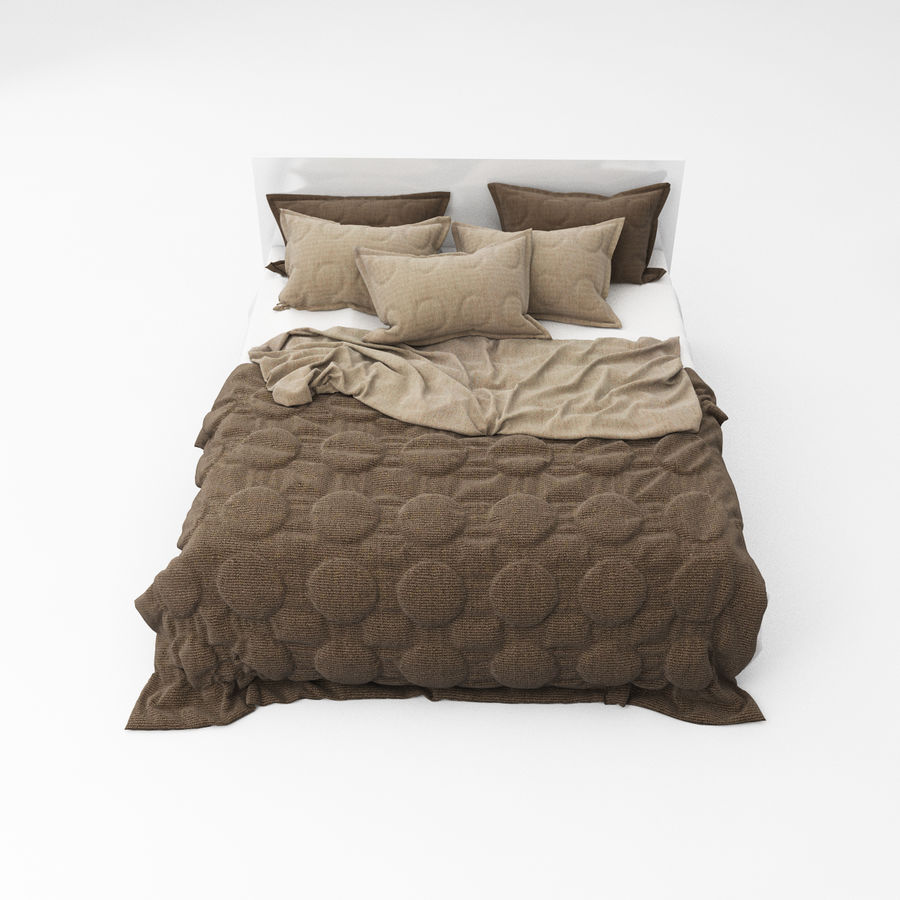 Bed collection 08 royalty-free 3d model - Preview no. 2