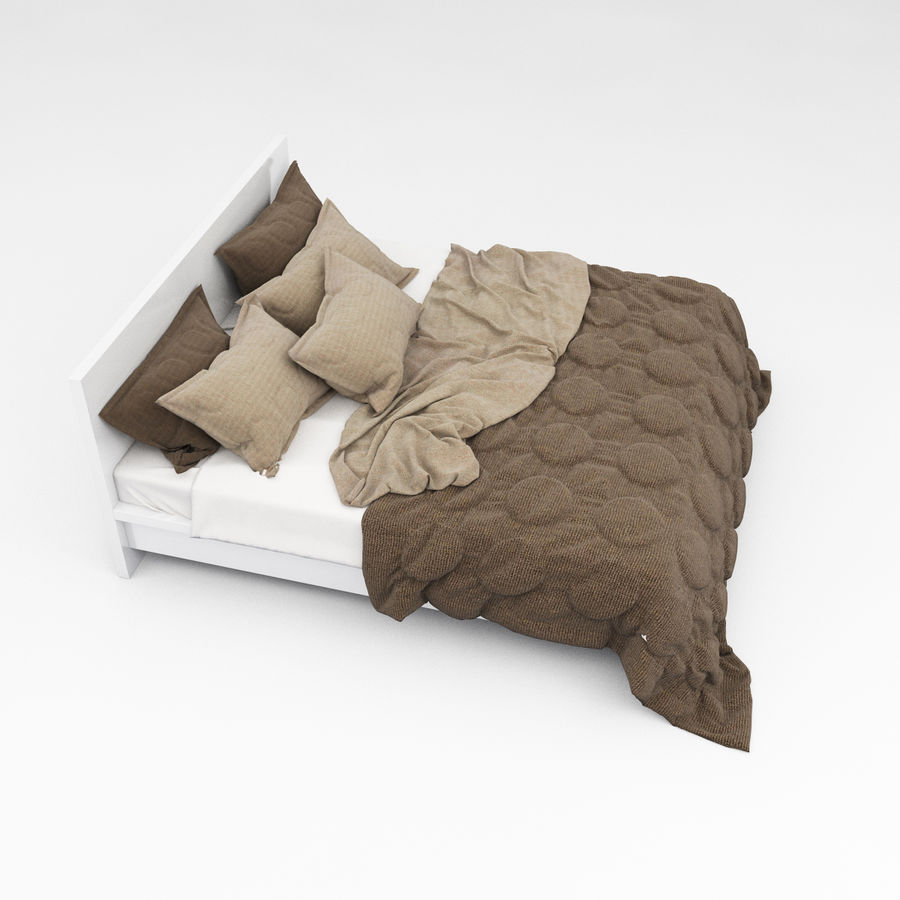 Bed collection 08 royalty-free 3d model - Preview no. 21