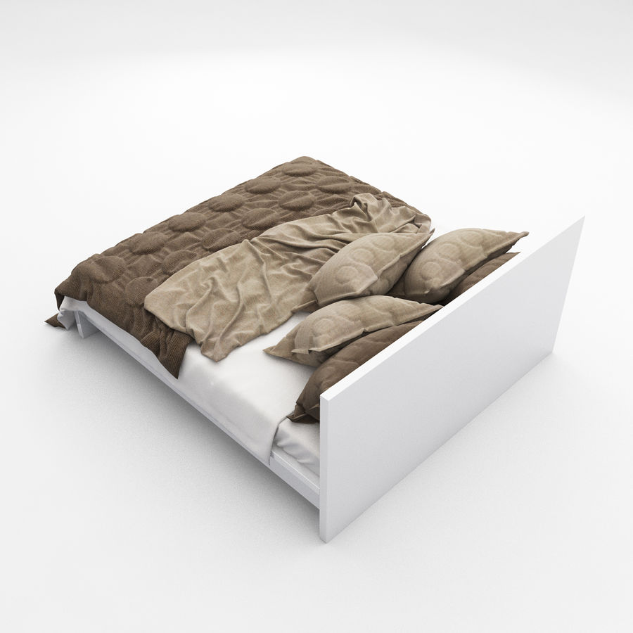 Bed collection 08 royalty-free 3d model - Preview no. 11