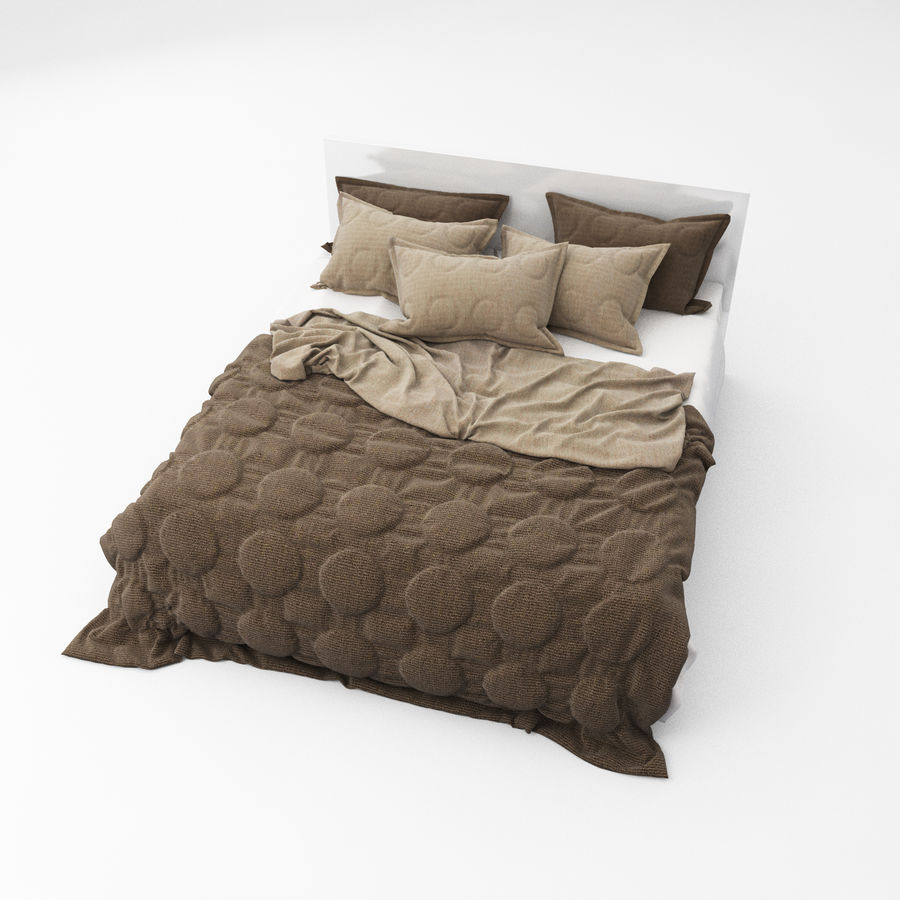 Bed collection 08 royalty-free 3d model - Preview no. 3