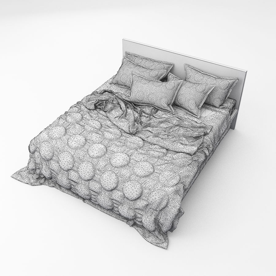Bed collection 08 royalty-free 3d model - Preview no. 29