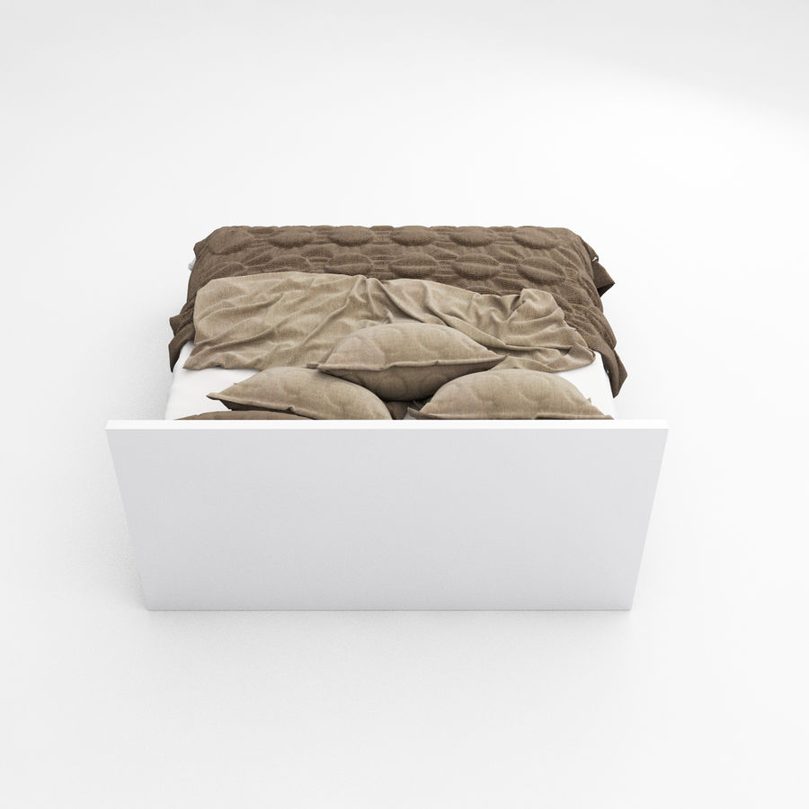Bed collection 08 royalty-free 3d model - Preview no. 14