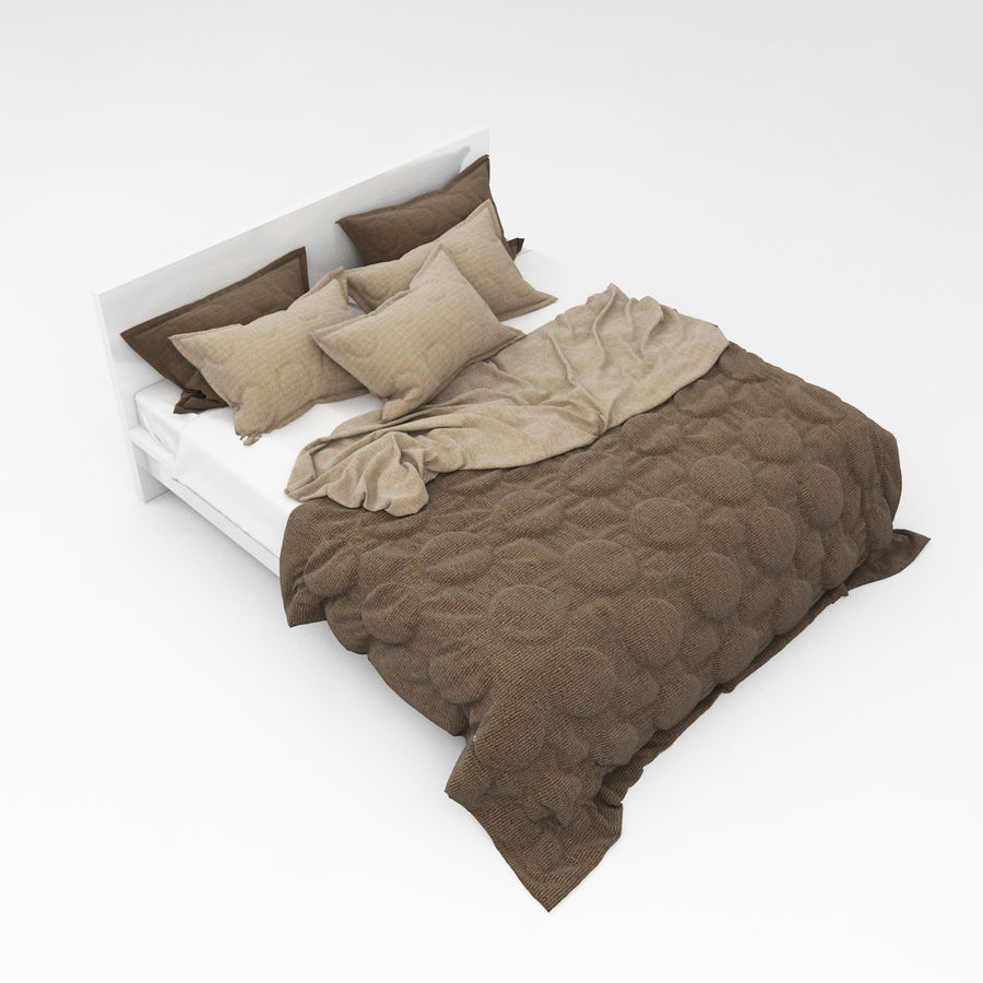 Bed collection 08 royalty-free 3d model - Preview no. 23