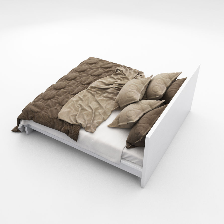 Bed collection 08 royalty-free 3d model - Preview no. 10