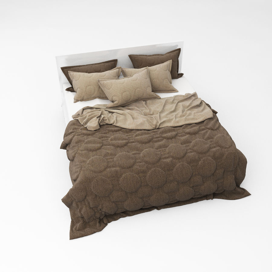 Bed collection 08 royalty-free 3d model - Preview no. 25