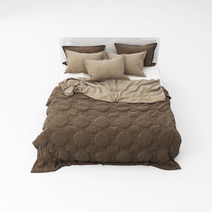 Bed collection 08 royalty-free 3d model - Preview no. 26