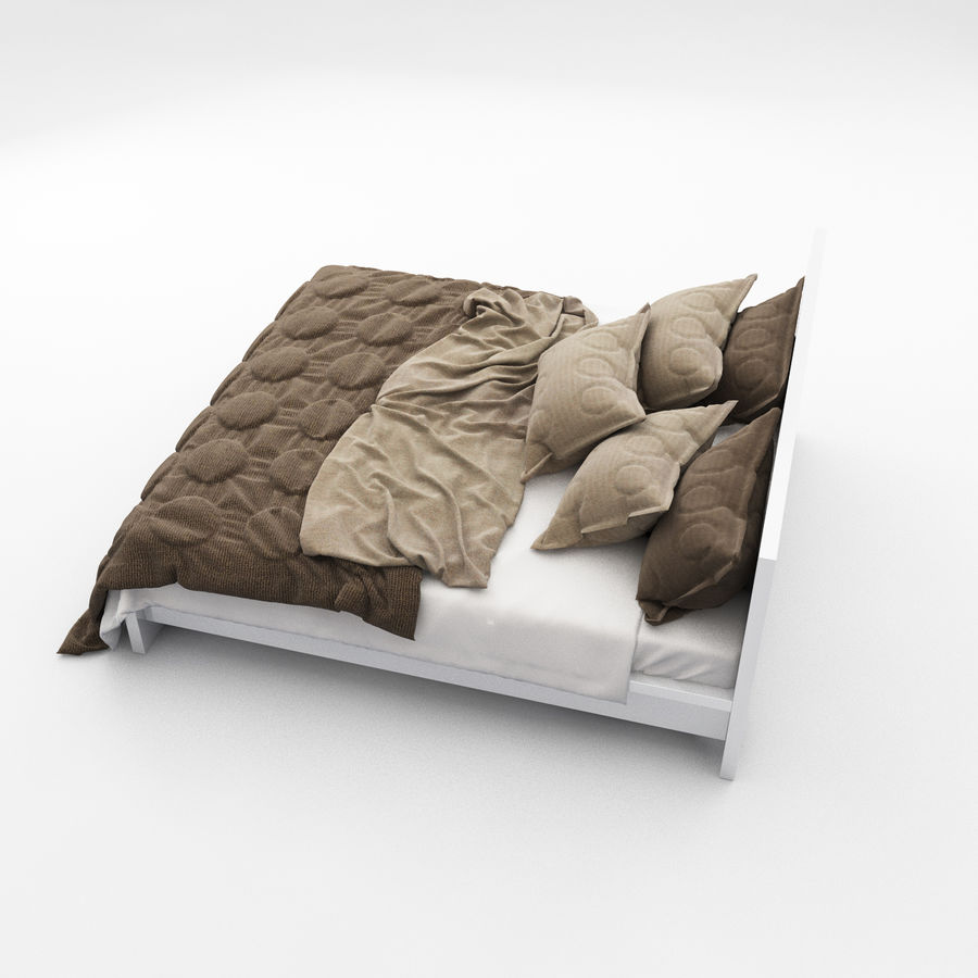 Bed collection 08 royalty-free 3d model - Preview no. 9