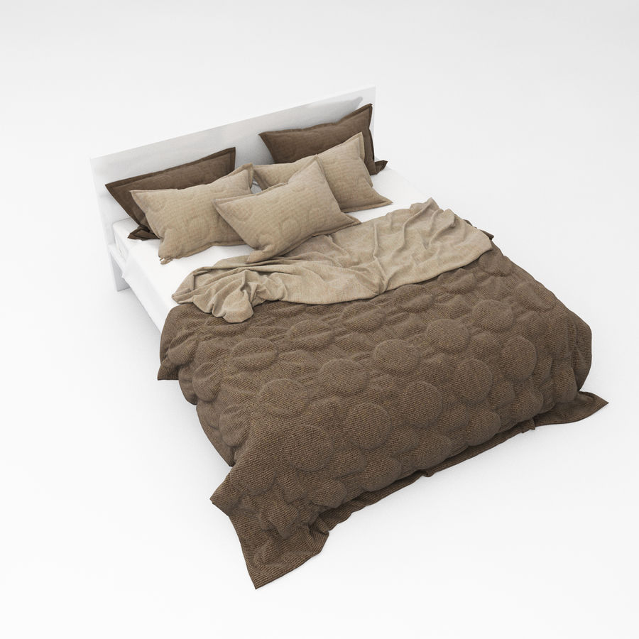Bed collection 08 royalty-free 3d model - Preview no. 24