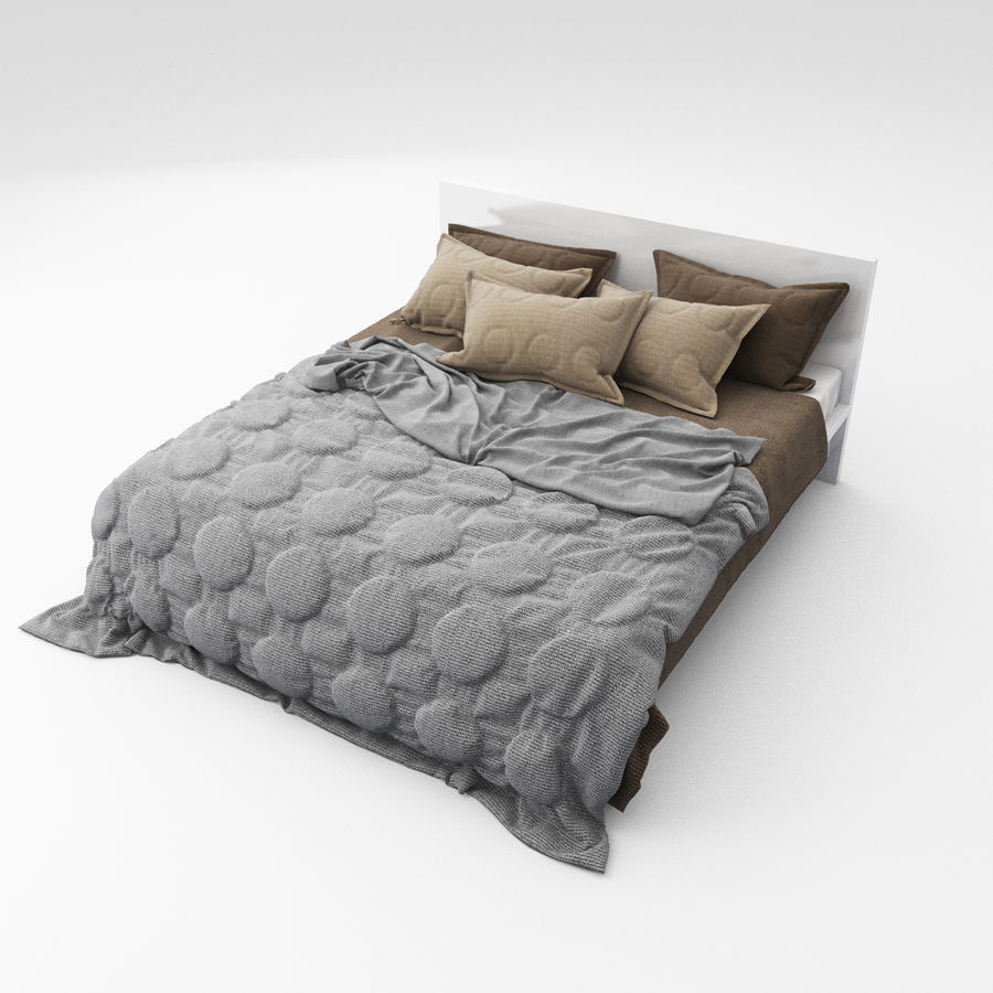 Bed collection 08 royalty-free 3d model - Preview no. 28