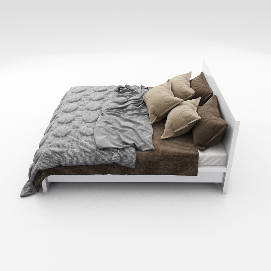Bed collection 08 royalty-free 3d model - Preview no. 27