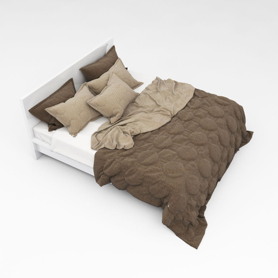 Bed collection 08 royalty-free 3d model - Preview no. 22