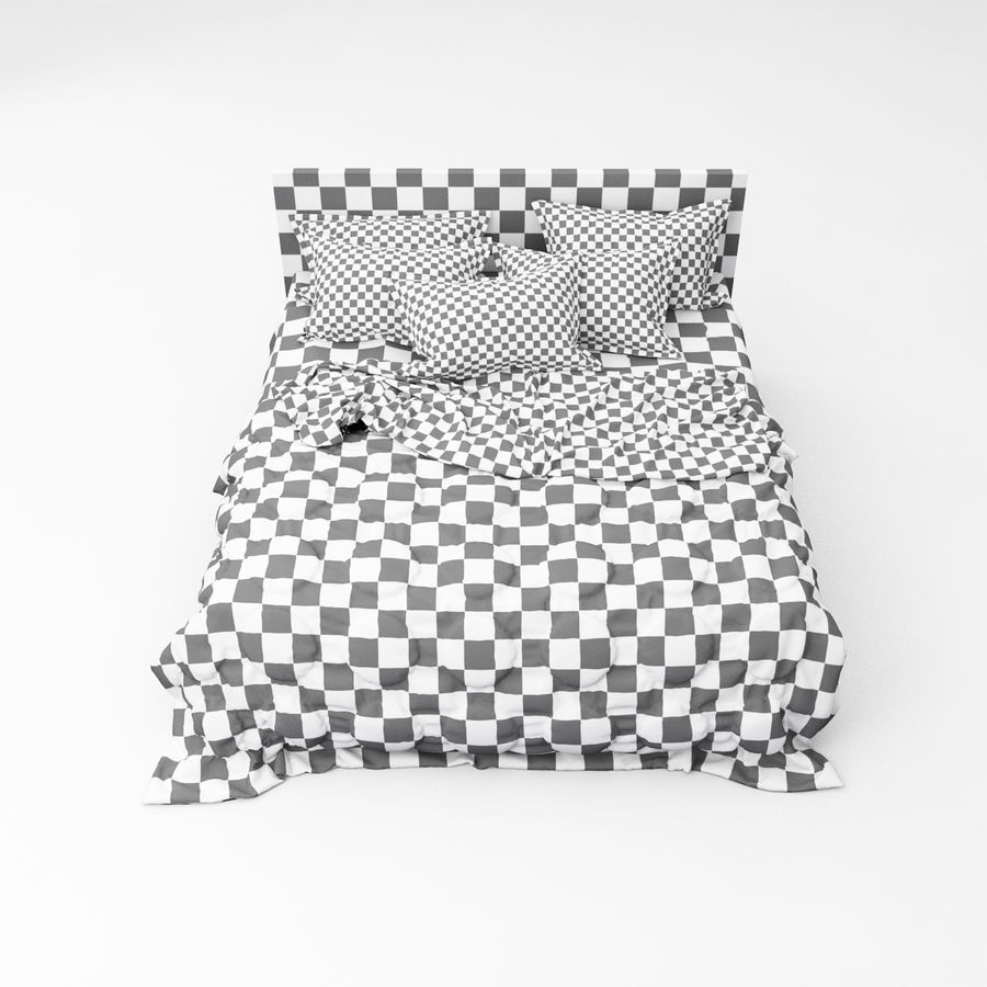 Bed collection 08 royalty-free 3d model - Preview no. 30