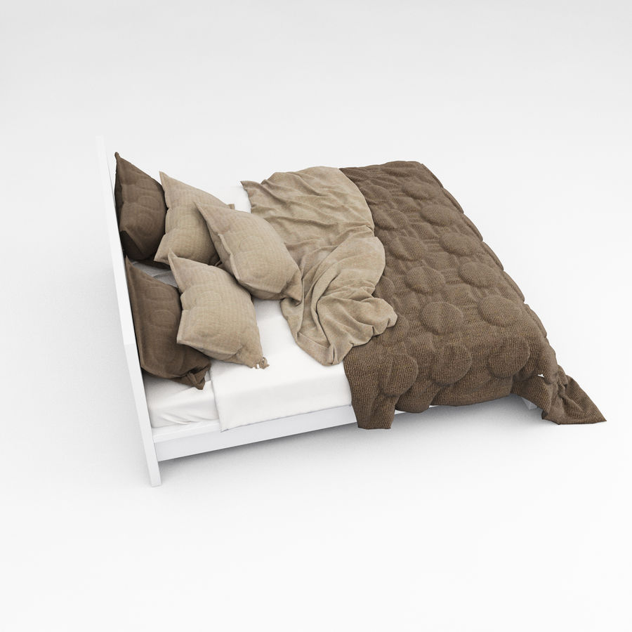 Bed collection 08 royalty-free 3d model - Preview no. 19