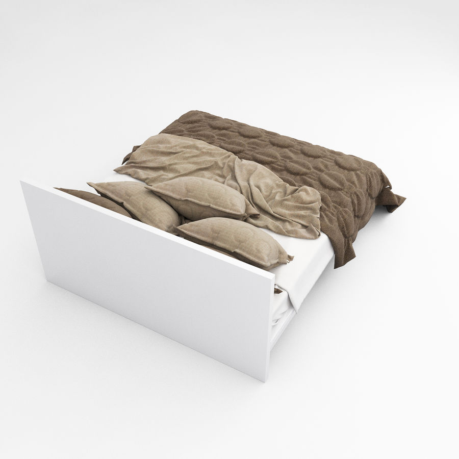 Bed collection 08 royalty-free 3d model - Preview no. 16
