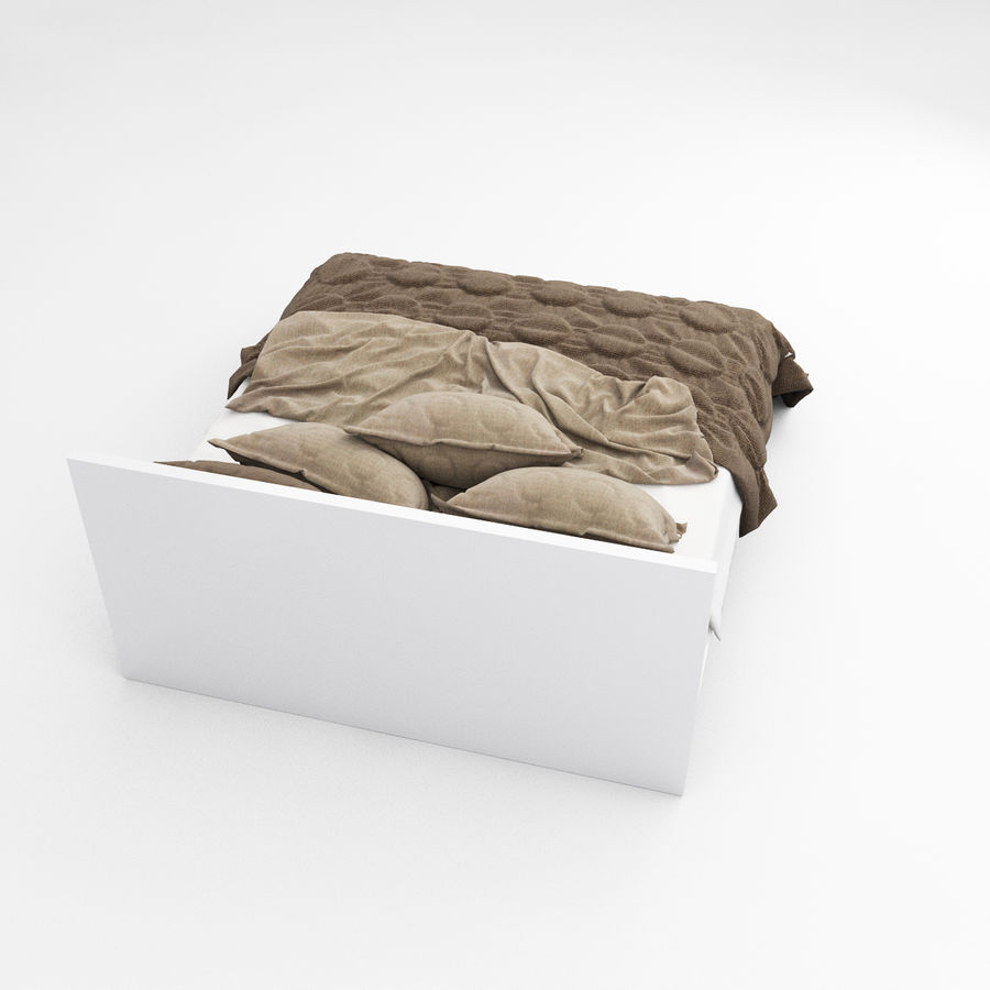 Bed collection 08 royalty-free 3d model - Preview no. 15