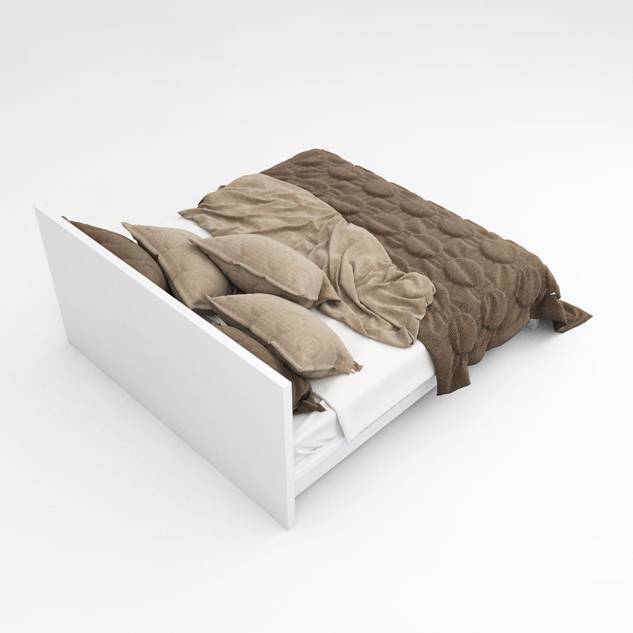 Bed collection 08 royalty-free 3d model - Preview no. 17
