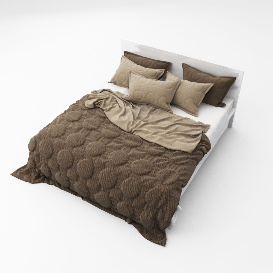 Bed collection 08 royalty-free 3d model - Preview no. 4