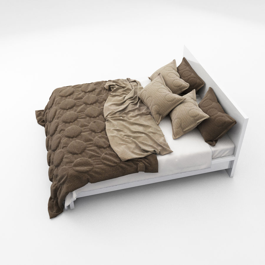 Bed collection 08 royalty-free 3d model - Preview no. 7