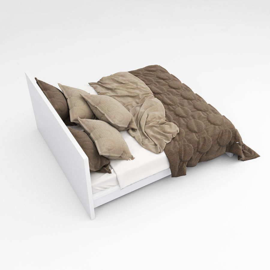 Bed collection 08 royalty-free 3d model - Preview no. 18