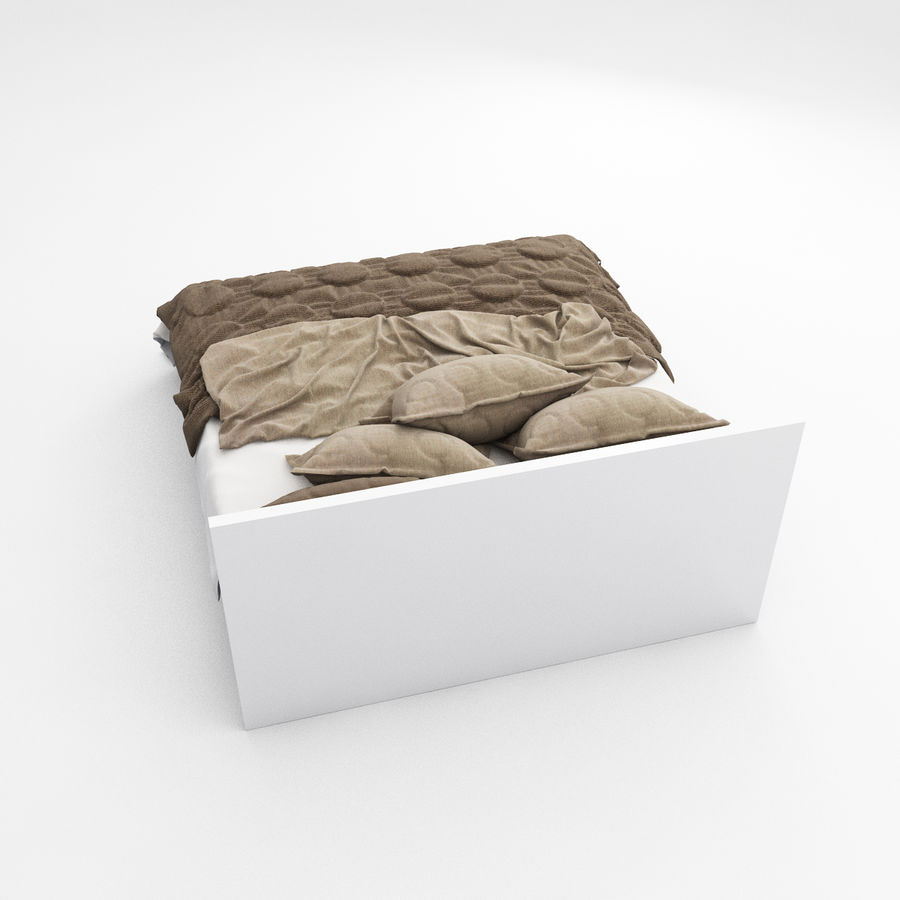 Bed collection 08 royalty-free 3d model - Preview no. 13