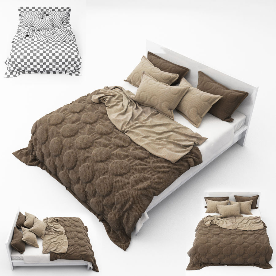 Bed collection 08 royalty-free 3d model - Preview no. 1
