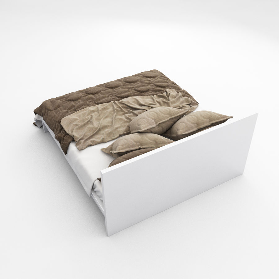 Bed collection 08 royalty-free 3d model - Preview no. 12