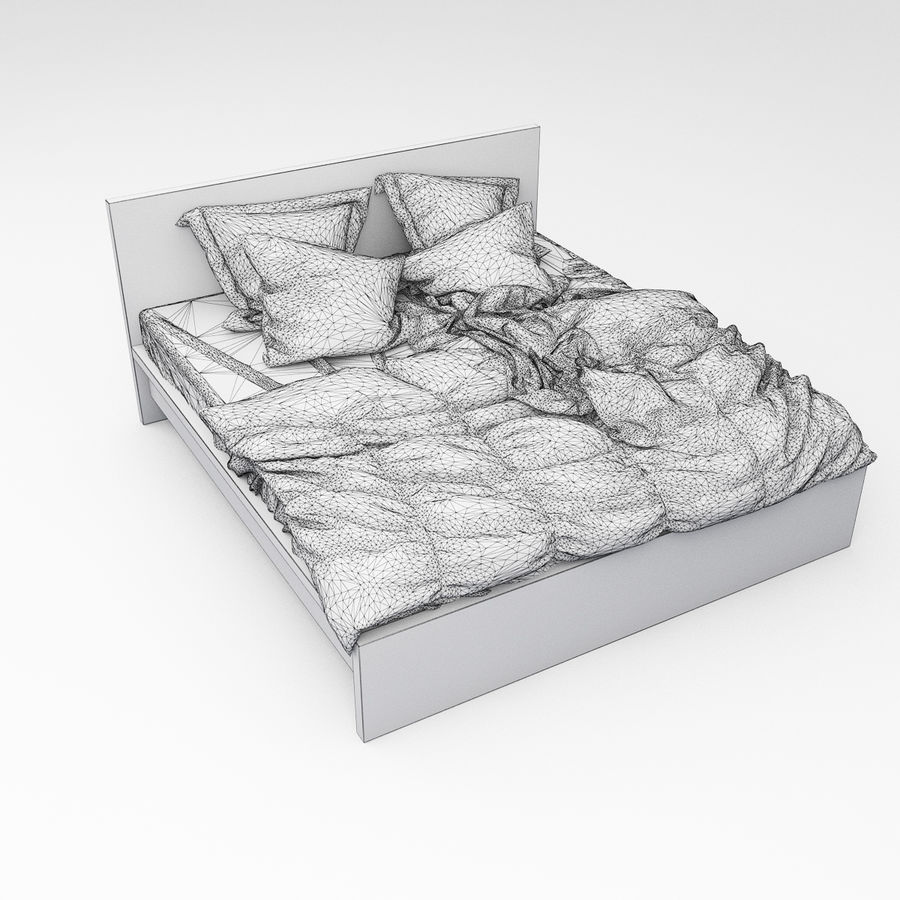 Bed collection 06 royalty-free 3d model - Preview no. 13