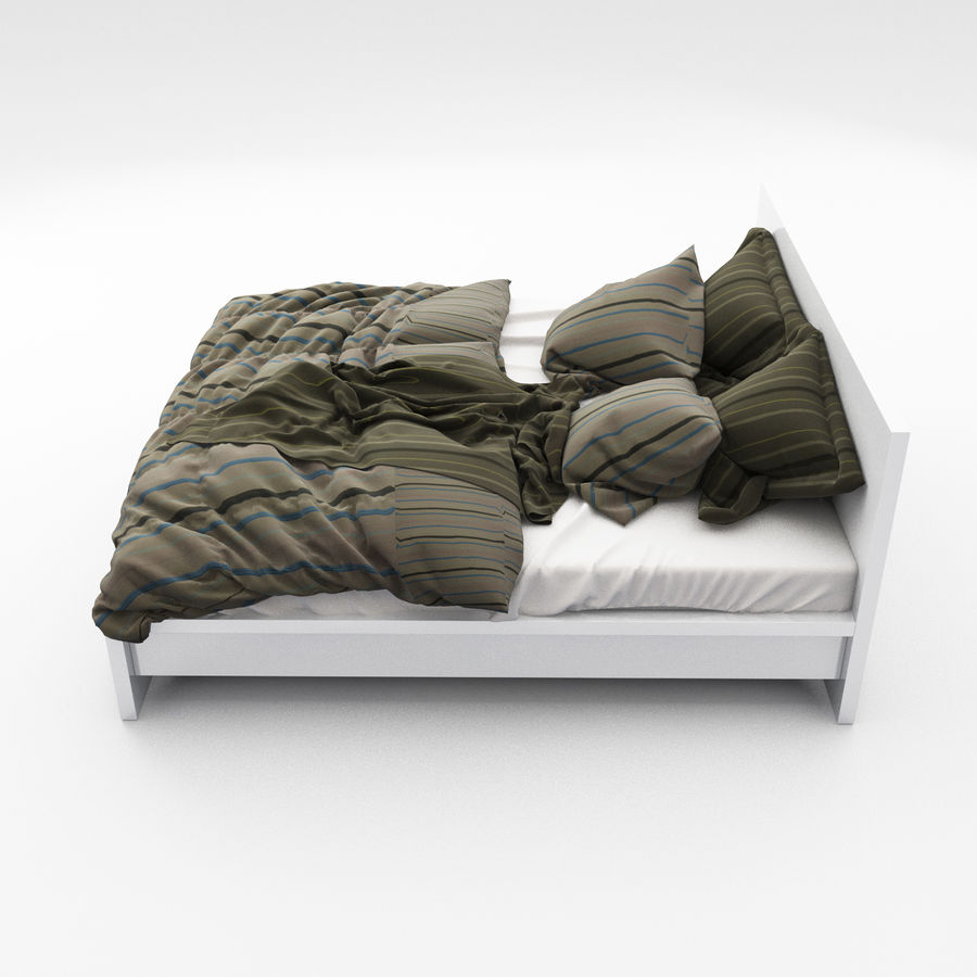 Bed collection 06 royalty-free 3d model - Preview no. 5
