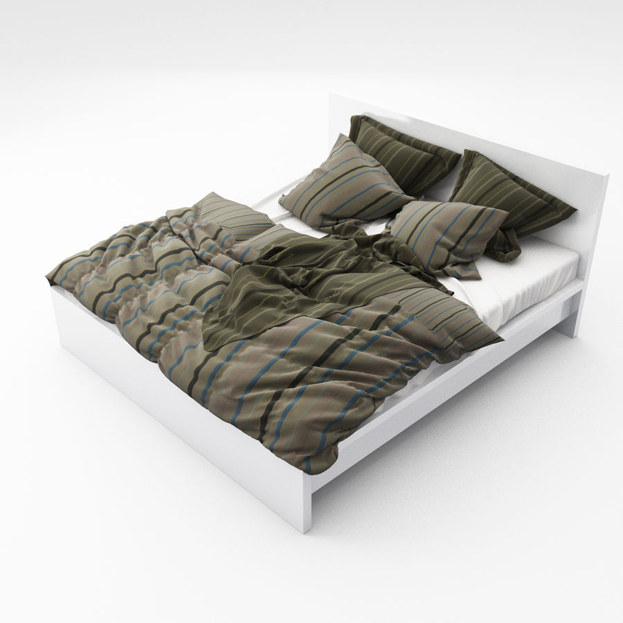 Bed collection 06 royalty-free 3d model - Preview no. 2