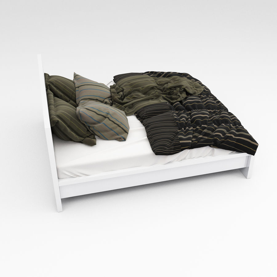 Bed collection 06 royalty-free 3d model - Preview no. 7