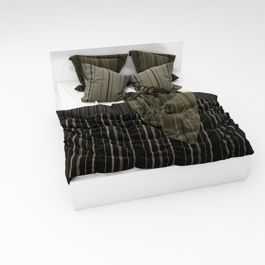 Bed collection 06 royalty-free 3d model - Preview no. 10