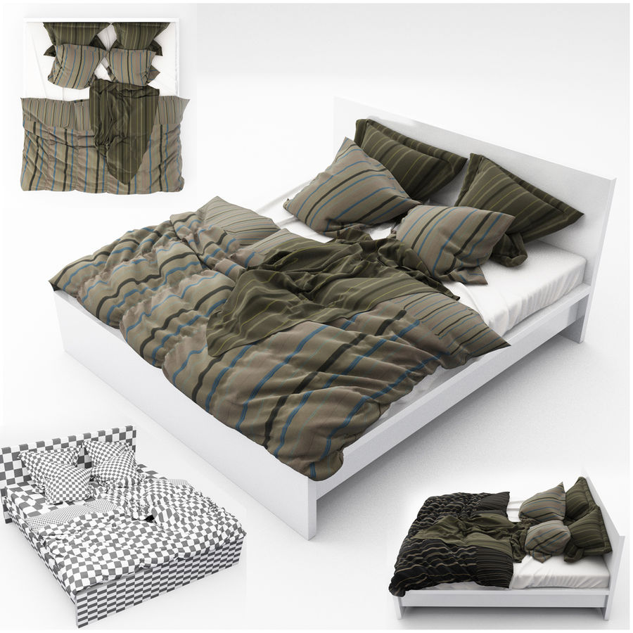 Bed collection 06 royalty-free 3d model - Preview no. 15