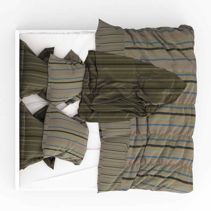 Bed collection 06 royalty-free 3d model - Preview no. 11