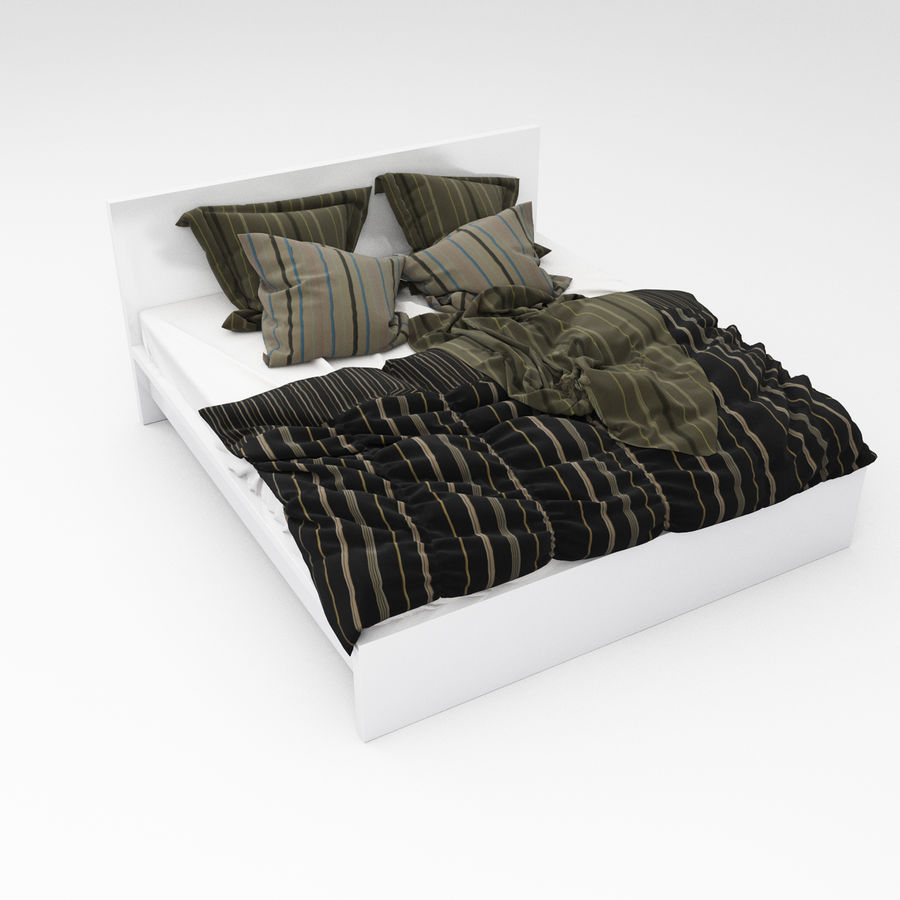Bed collection 06 royalty-free 3d model - Preview no. 9