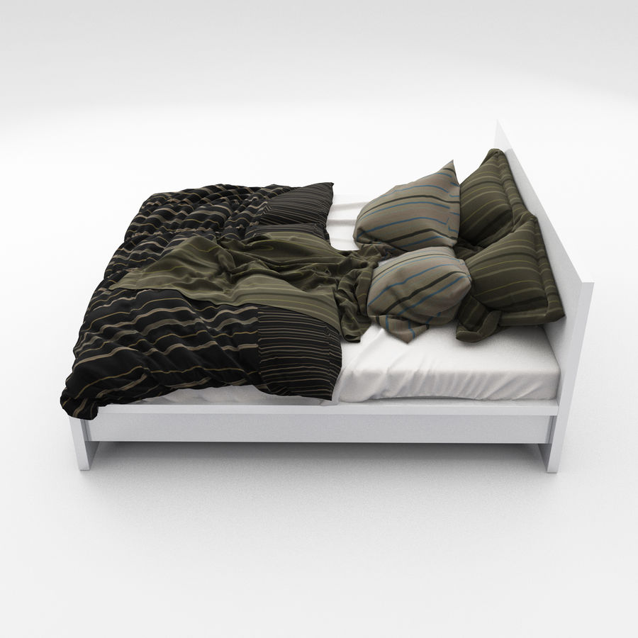 Bed collection 06 royalty-free 3d model - Preview no. 6
