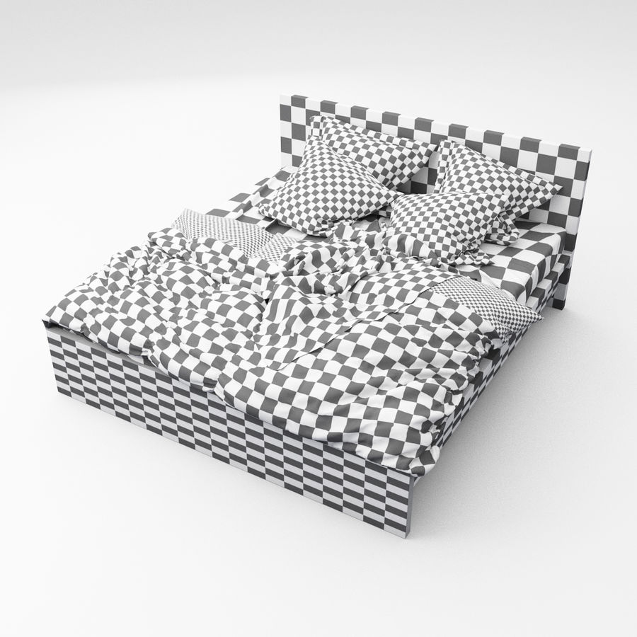 Bed collection 06 royalty-free 3d model - Preview no. 12